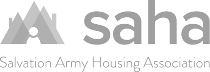 Black & White Salvation Army Housing Association Logo