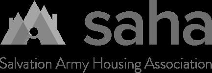 Black & White Salvation Army Housing Association Logo